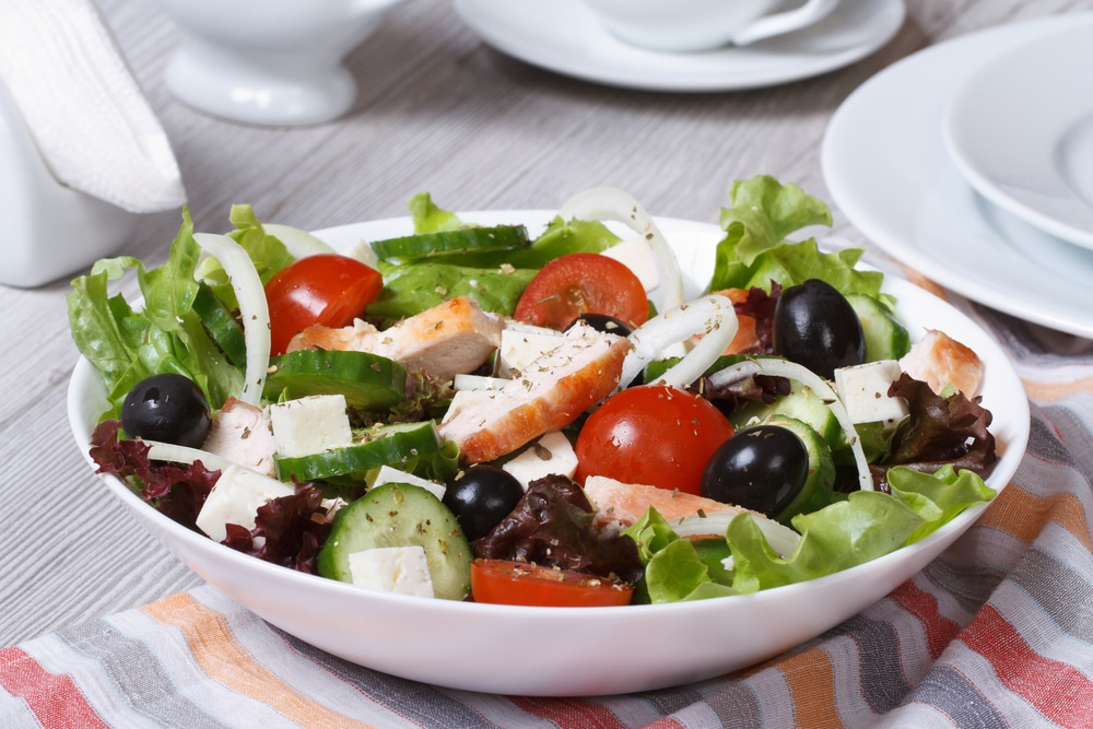 Amazing With Greek Salad With Chicken Calories 1